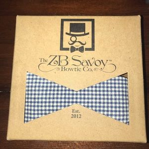 ZB Savoy Cobalt Blue Gingham Bow Tie
